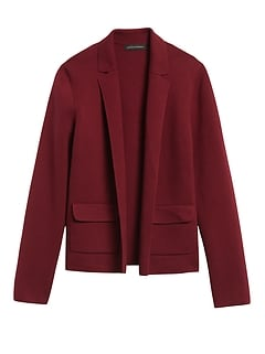 Cropped Sweater Blazer