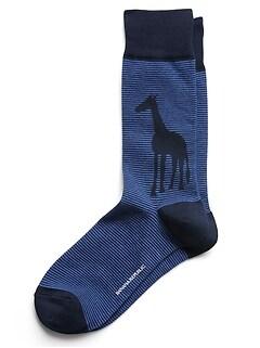 Chaussettes hautes à motif de girafe