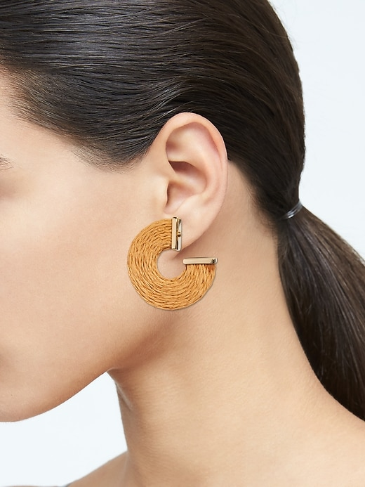 Natural Woven Hoop Earrings