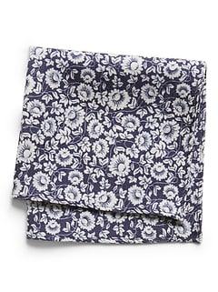 Floral Wool Pocket Square