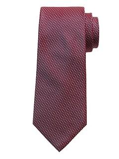 Micro Dot Geo Silk Tie