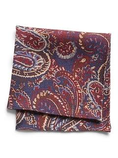 Mouchoir de poche en laine à imprimé cachemire