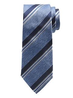Cravate en soie à rayures variées