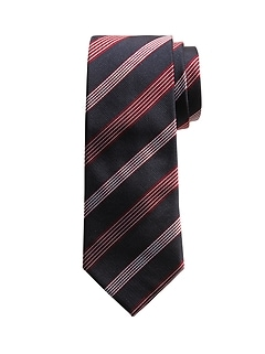 Cravate en soie à cinq rayures
