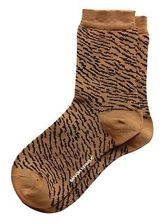 Chaussettes habillées à motif zèbre