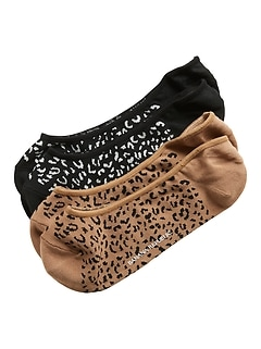 Cheetah No-Show Sneaker Sock 2-Pack