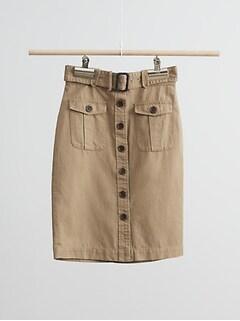 Heritage Cotton-Linen Safari Skirt