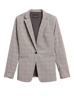 Long & Lean-Fit Washable Wool-Blend Blazer
