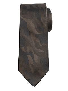 Tonal Camo Silk Tie