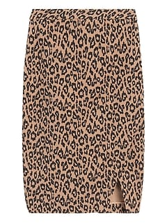 Bi-Stretch Wrap-Front Pencil Skirt