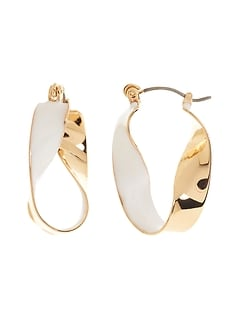 Boucles d'oreilles en métal torsadé