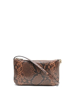 Snake Baguette Shoulder Bag