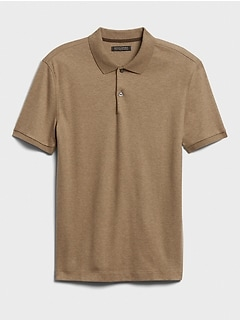 Luxury-Touch Performance Golf Polo