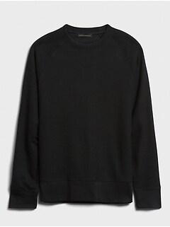 Brushed Waffle-Knit T-Shirt