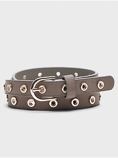 Skinny Grommet Belt