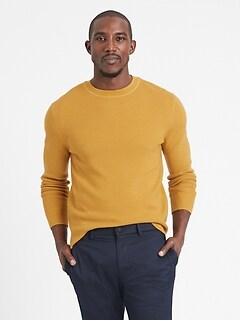 Italian Merino Waffle-Knit Sweater