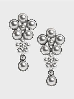 Boucles d'oreilles à perles et à fleurs