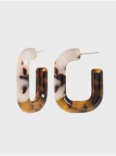 Anneaux d'oreilles tubulaires en résine