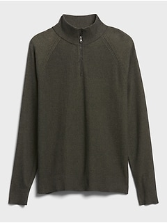 SUPIMA® Half-Zip Sweater