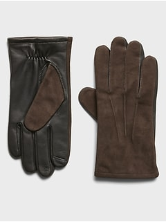 Suede & Leather Gloves