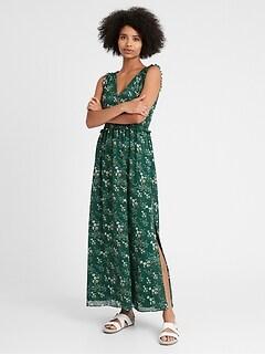 Petite Smocked Maxi Dress