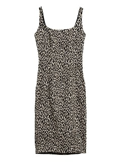 Petite Animal Print Sloan Sheath Dress