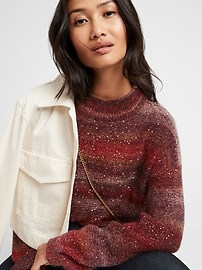 Ombré Sequin Cropped Sweater