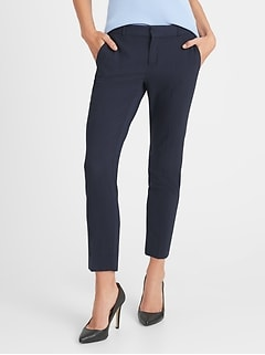 Avery Straight-Fit Washable Wool-Blend Ankle Pant