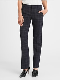 Petite Logan Trouser-Fit Washable Wool-Blend Pant