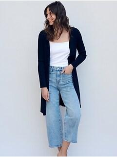 High-Rise Wide-Leg Cropped Utility Jean