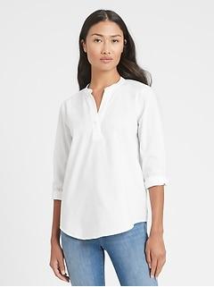 Relaxed Notch-Neck Shirt