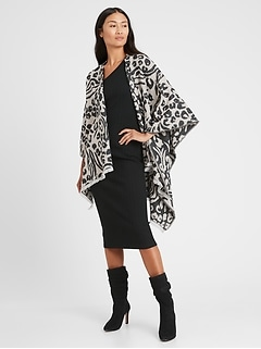 Reversible Leopard Poncho