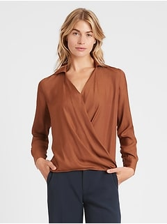 Wrap-Effect Top