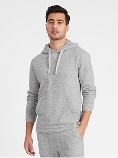 Brushed Waffle-Knit Hoodie