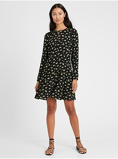 Petite Puff-Sleeve Mini Dress