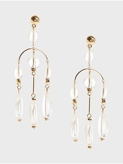 Chandelier Stone Earrings