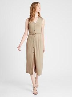 Knit Button-Down Dress