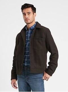 Wool-Blend Trucker Jacket