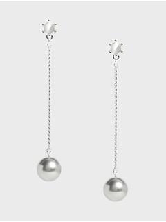 Boucles d'oreilles linéaires à perles