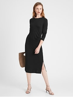 Petite Luxespun Side-Ruched Dress