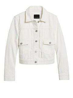 Petite Cropped Denim Jacket