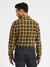 Slim-Fit Flannel Shirt