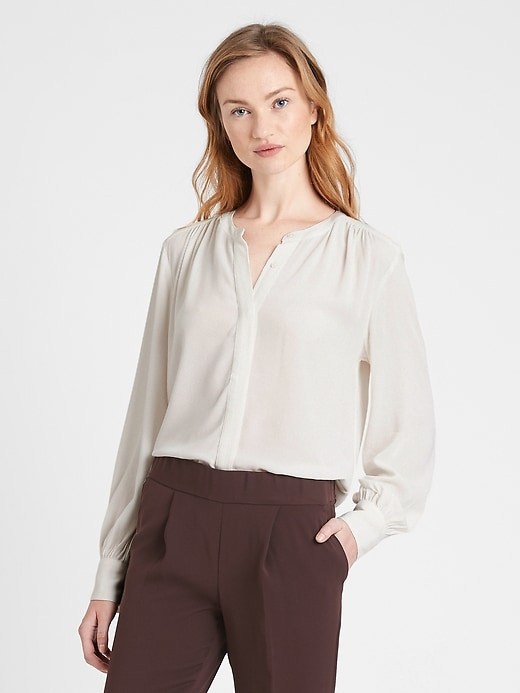 Chemise à manches ballons EcoVeroMC, Petite