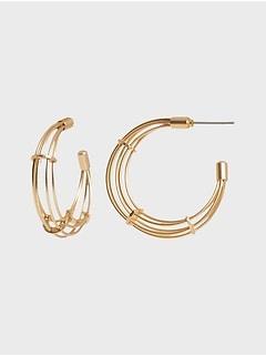Anneaux d'oreilles métalliques