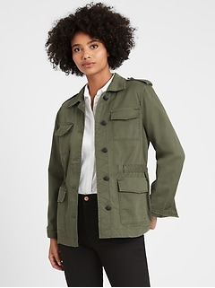 Petite Twill Utility Jacket