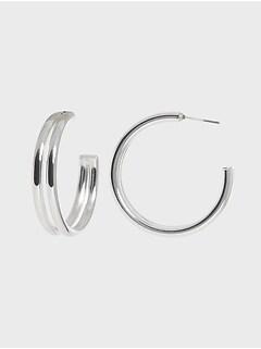 Boucles d'oreilles à double anneau
