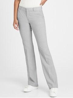Petite Logan Trouser-Fit Washable Wool-Blend Pant