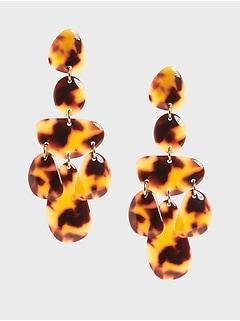 Boucles d'oreilles pendeloques en résine