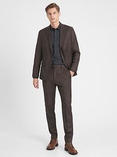 Slim Italian Sharkskin Suit Jacket