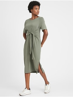 Sandwash Modal Twist-Front Dress